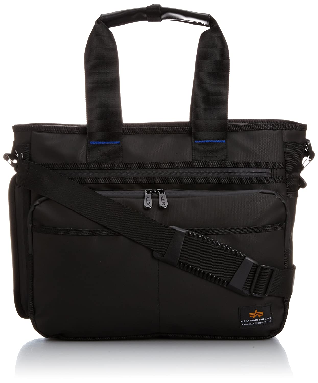 [アルファ インダストリーズ] トートビジネスバッグ CBコーティング RAIN900D A4PC対応 horizontalスタイル 4805 B00IJN4KRO  Bk