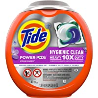 Tide Hygienic Clean Heavy 10x Duty Power PODS Liquid Laundry Detergent, Spring Meadow, 41 count, For Visible and…