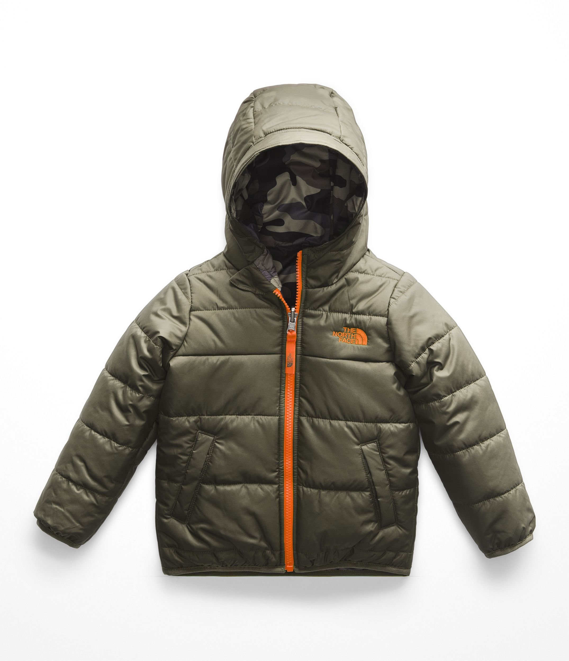 The North Face Toddler Boys Reversible Perrito Jacket - New Taupe Green - 2T