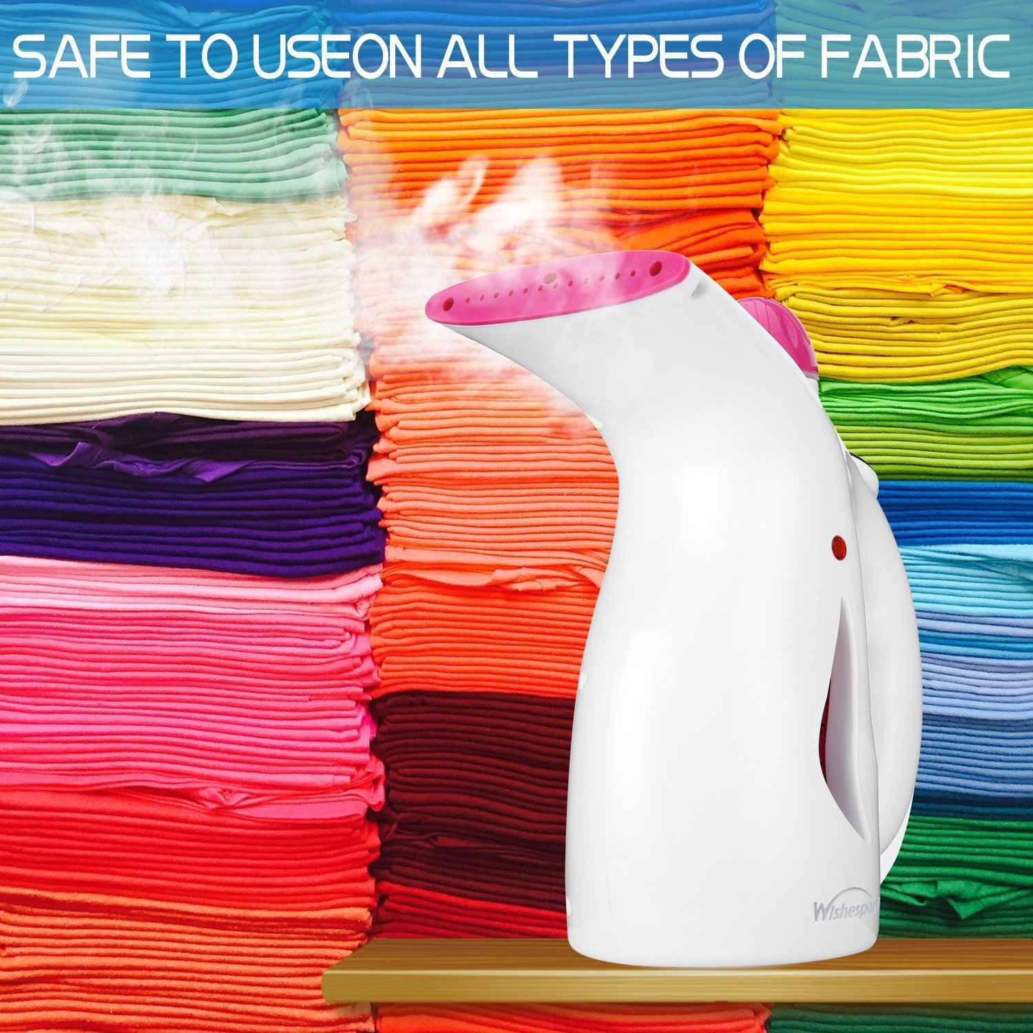 WISHESPORT Steamer For Clothes,2 in 1 Handhold Facial Steamer For Ironing Clothes, Garment Steamer Wrinkle Release for Fabric Iron Sterilizer Fast Heating Spray,Travel Steamer