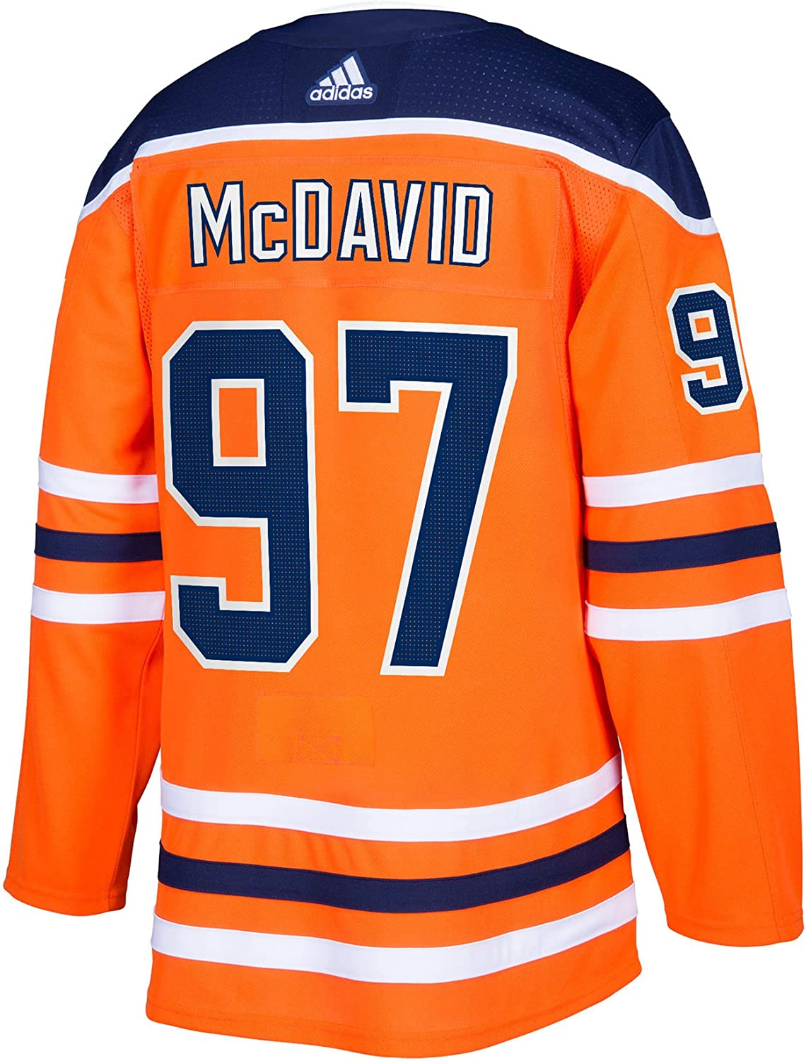 adidas Connor McDavid Edmonton Oilers NHL Mens Authentic Orange Hockey Jersey