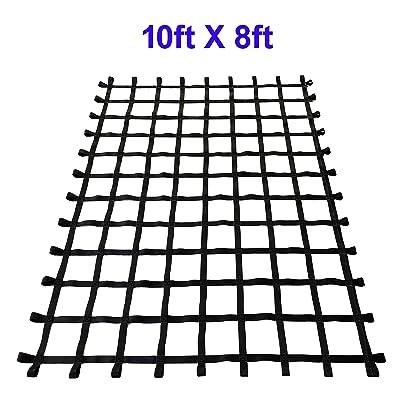 Fong 10 ft X 8 ft Climbing Cargo Net Black - Indoor Climbing net - Outdoor Playground Swing, Belt Swing, Cargo Net Playground (10ft X 8ft): Toys & Games