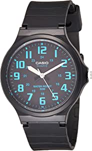 Casio Men's Black Dial Resin Analog Watch - MW-240-2BVDF