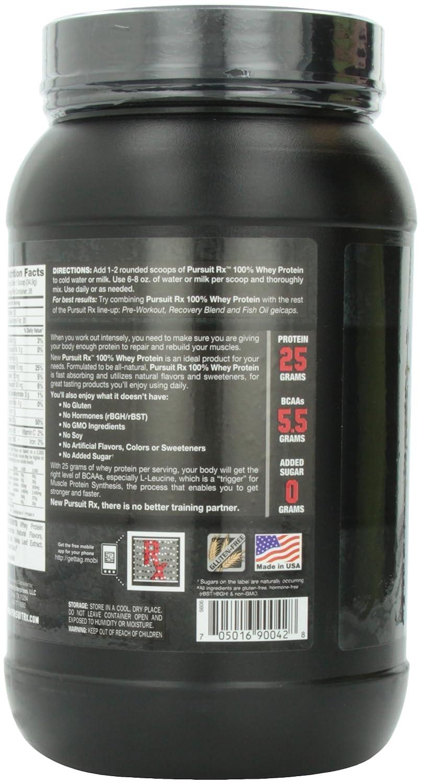Pursuit Rx All Natural 100% Whey Protein Supplement, Creamy Vanilla, 2 Pound