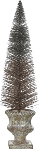 Creative Co-op Large Bottle Brush Copper Finish in Decorative Urn Tree Figurine