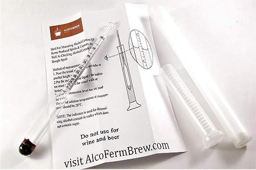 Alcoholímetro / Medidor de grado alcohólico / Nivel de alcohol (0-100%): Amazon.es: Hogar