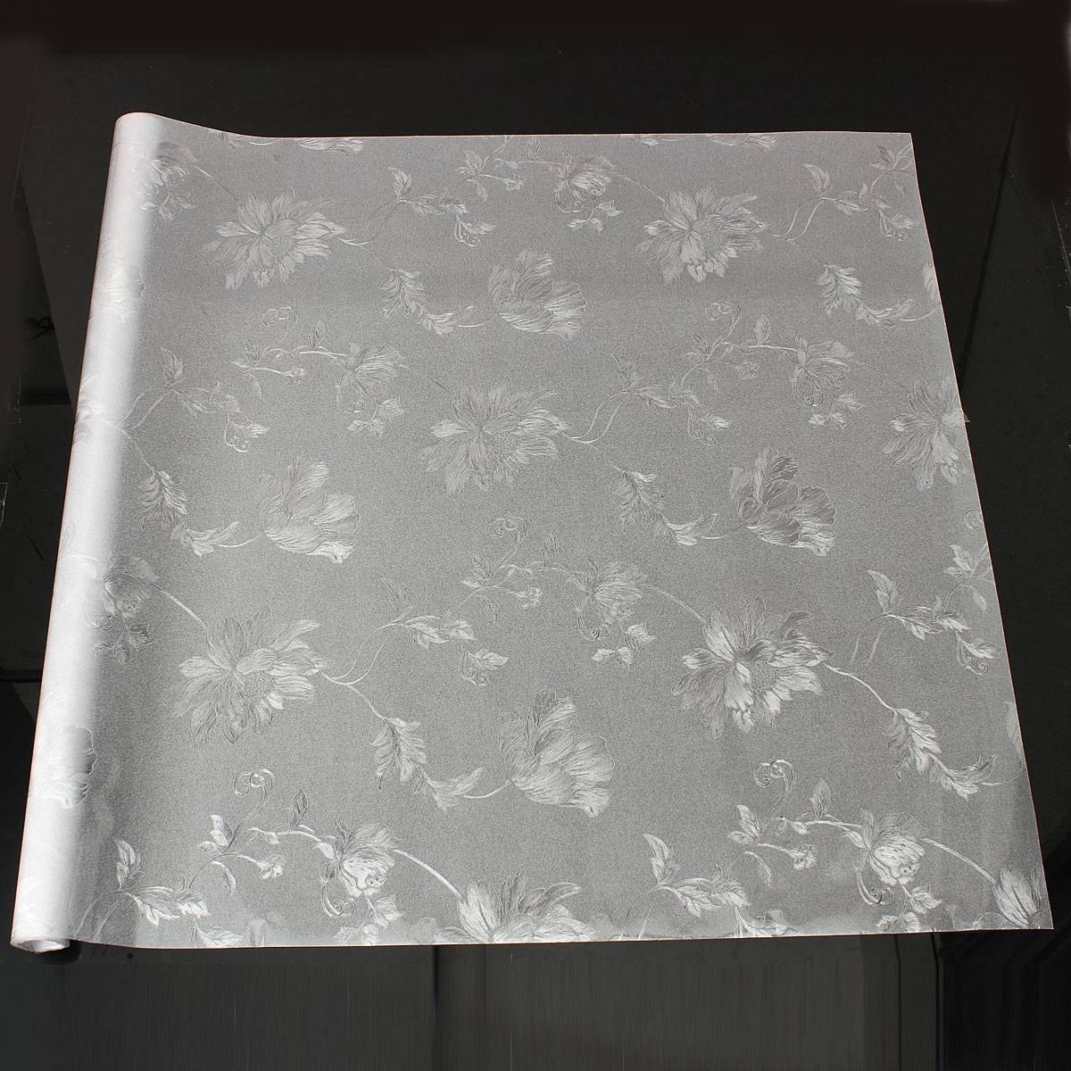 Autocollant De Verre Autocollant Artistique Fleur Hibiscus 3D Opaque Matte Pour Vitre Fenetre Bain Cuisine 60x100cm KING DO WAY