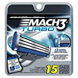 Amazon Price History for:Gillette Mach3 Turbo Men's Razor Blade Refills, 15 Count