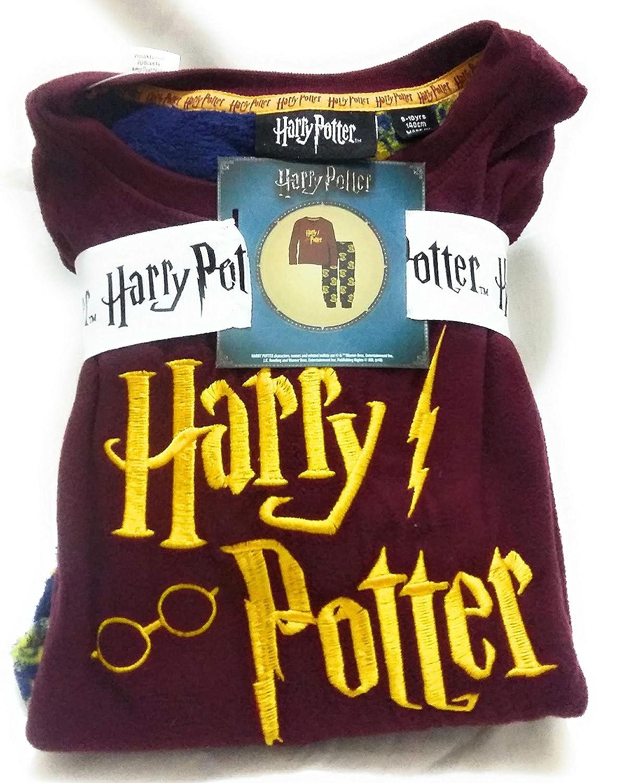 Primark - Pijama de Forro Polar para niños de 4 a 14 años, diseño de Harry Potter Rojo Granate 128 cm (7-8 Años): Amazon.es: Ropa y accesorios