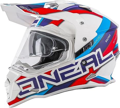 O Neal Sierra Helmet Circuit White Blue Red Xxl 63 64cm Sport Freizeit
