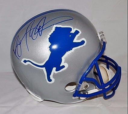 official photos 45bfa 29a8f Signed Barry Sanders Helmet - F S 83 02 TB W Auth *Blue ...