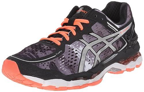 ASICS Women's Gel Kayano 22 Running Shoe, BlackFlash Coral