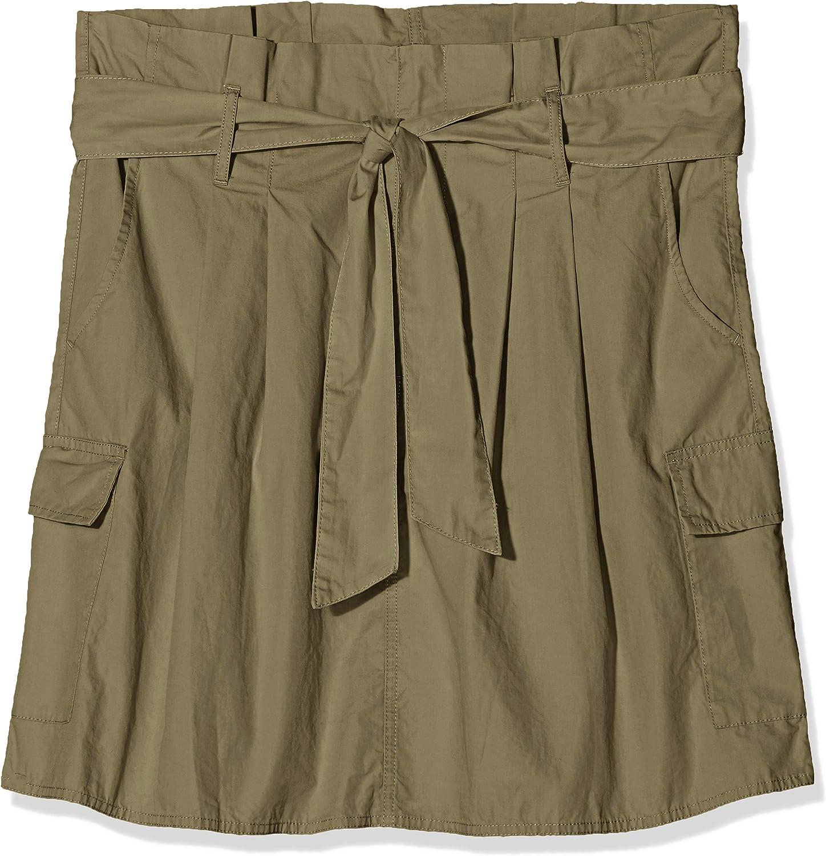 United Colors of Benetton Belted Cargo Skirt Falda, Verde (Khaki ...