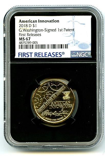 2018 P Innovation Dollar $1 Washington Signed 1st Patent $1 NGC MS67