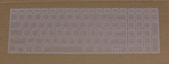 Saco Chiclet Keyboard Skin for HP Pavilion 15 p077TX Notebook  Transparent  Screen Protectors