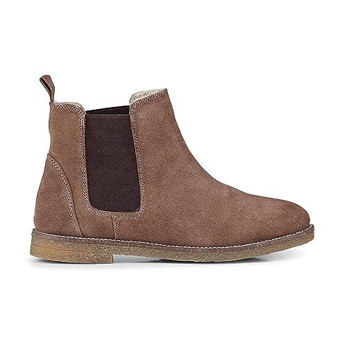 27898708758ccb Cox Damen Damen Winter Chelsea Boots aus Veloursleder