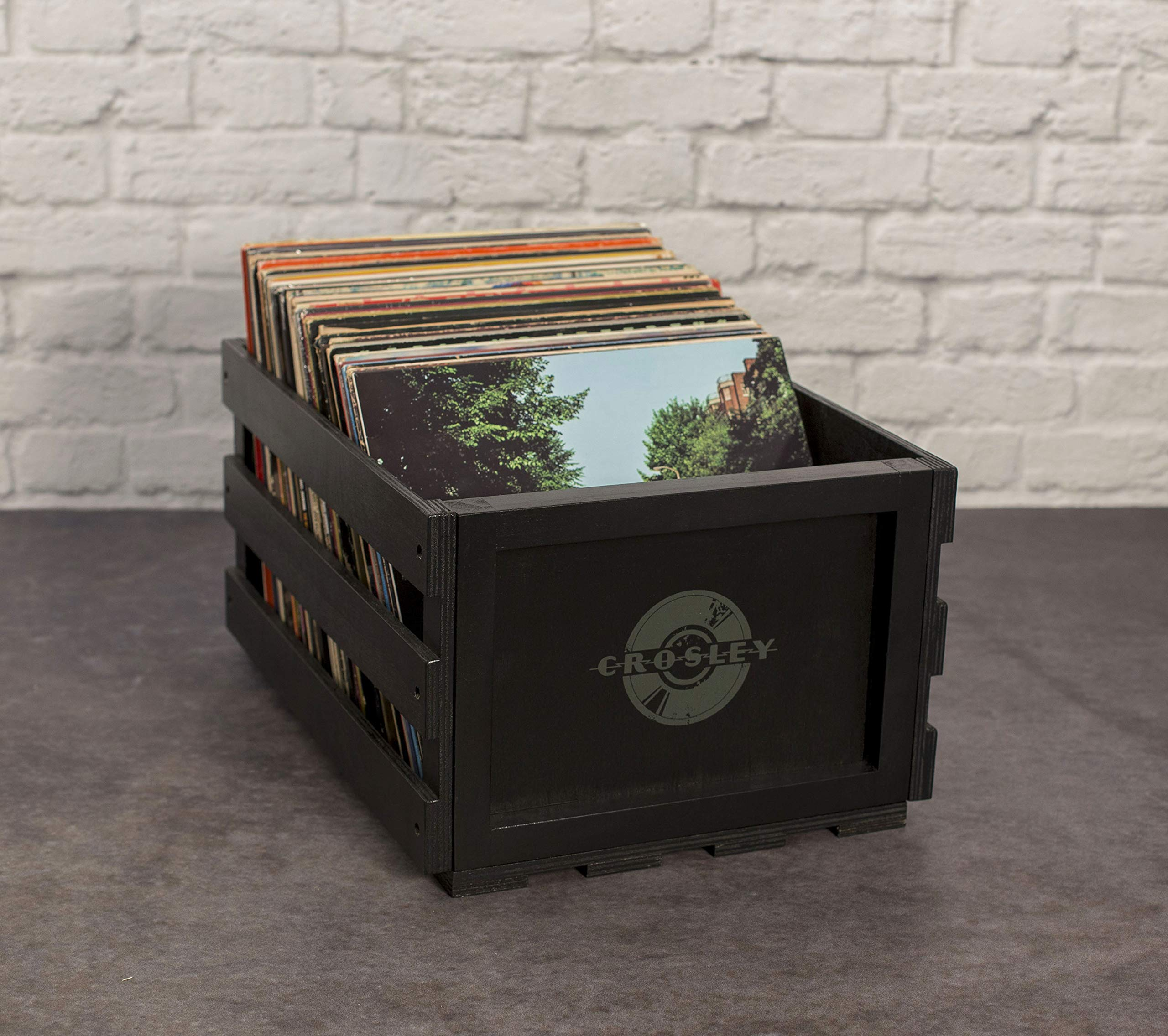 Crosley AC1004A-BK Record Storage Crate Holds up to 75 Albums, Black by Crosley (Image #7)