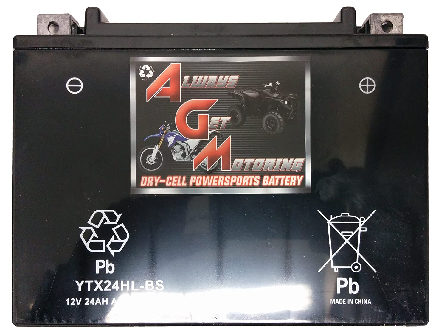 AGM Brand Or Similar Replacement For KMG YTX24HL-BS Battery For Yamaha 1100 XJ1100 Maxim 1982 Sealed Maintenance Free 12V Battery High Performance Maintenance Free Powersport Motorcycle ATV Scooter Snowmobile Watercraft KMG -By Saskbattery SecurityBattery