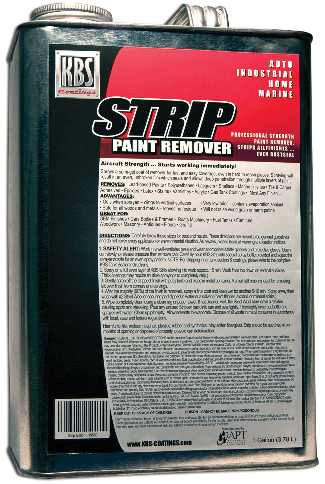 KBS Coatings 19500 Paint Remover/Stripper - 1 Gallon by KBS Coatings (Image #1)