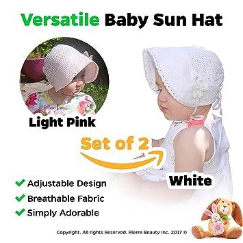 43e76b3a2123d Amazon.com  Baby Girl Sun Hat