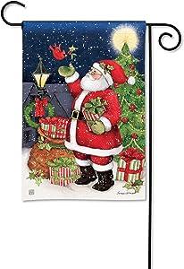 BreezeArt Studio M Hometown Santa Winter Christmas Garden Flag - Premium Quality, 12.5 x 18 Inches