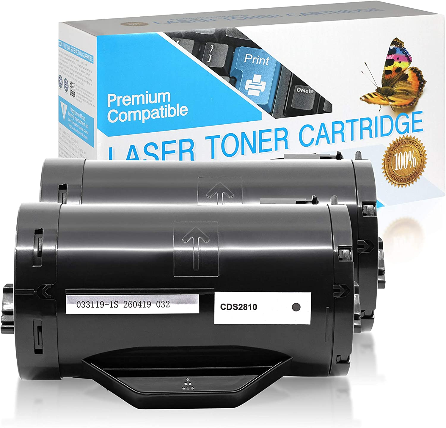 D9GY0 Black,2 Pack SuppliesOutlet Compatible Toner Cartridge Replacement for Dell 593-BBMF
