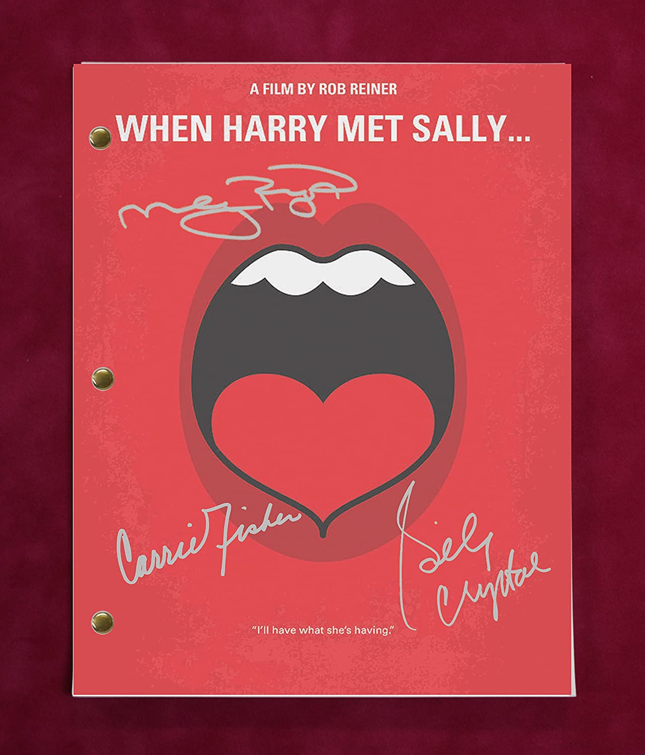 When Harry Met Sally Script w/Reproduction Signature Ryan and Crystal'C3'