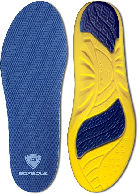 Sof Sole Airr Orthotic Full Length Performance Shoe Insoles Men/'s Size 9-10.5