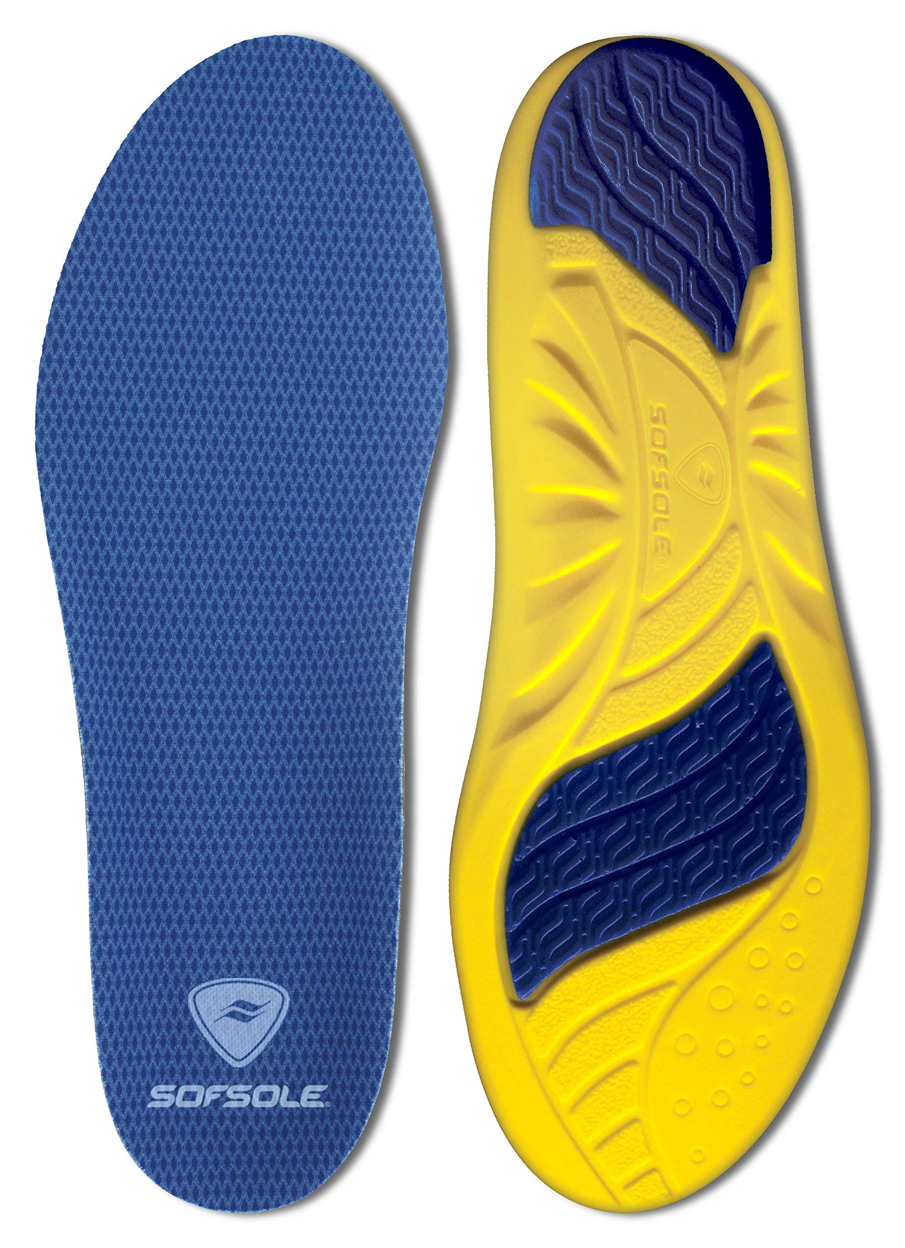 Sof Sole Insoles Men's Athlete Performance Full-Length Gel Shoe Insert, Men's 9-10.5 Blue by Sof Sole