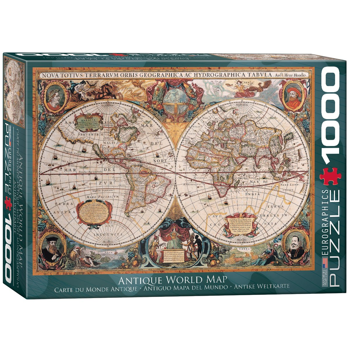 Amazoncom EuroGraphics Antique World Map Puzzle Piece Toys - Antique world map picture