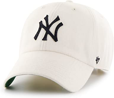 Gorra curva blanca de New York Yankees MLB Clean Up de 47 Brand ...
