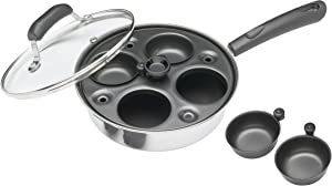 Kitchencraft Carbon Steel Non-stick Induction-safe 4-cup Egg Poacher/saute Pan,