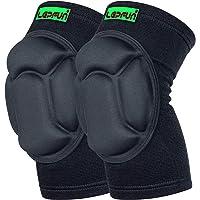 Lepfun S9900 Genouillère de compression, soutien optimal du genou, pour hommes et femmes (Small/Medium, S9900 Black)