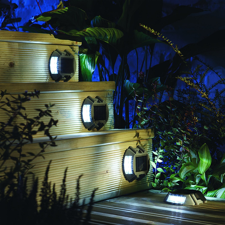 4 Pack EcoCity Solar Lights LED Deck Driveway Light Dock Path Step Road light