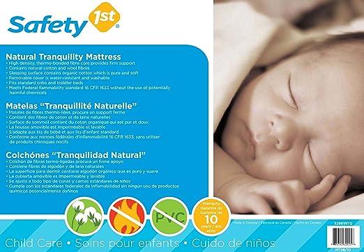 Amazon.com: Safety 1st Natural Tranquility bebé colchón ...