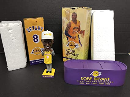 cheaper 8404f cdff7 Kobe Bryant Los Angeles Lakers Retirement Bobblehead SGA and Special  Edition Stand at Amazon s Sports Collectibles Store