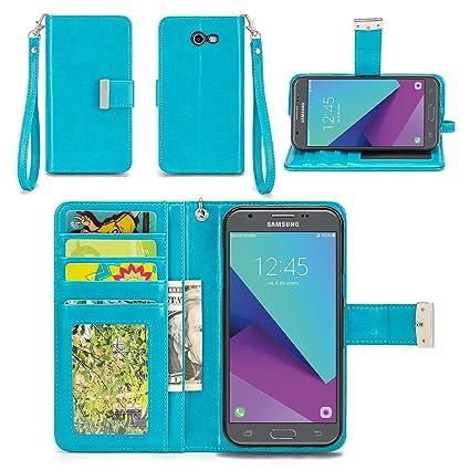 Samsung Galaxy J3 Prime Case, Samsung Galaxy J3 (2017) Case, Galaxy J3  Eclipse / J3 Mission/Sol 2 Case - IZENGATE [Classic Series] Wallet Cover PU