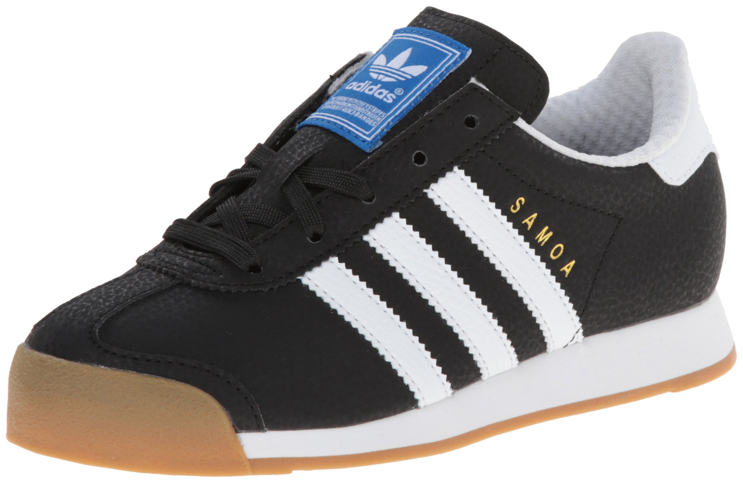adidas Originals Samoa Sneaker (Little Kid/Big Kid), Black/White/Gold, 2 M US Little Kid