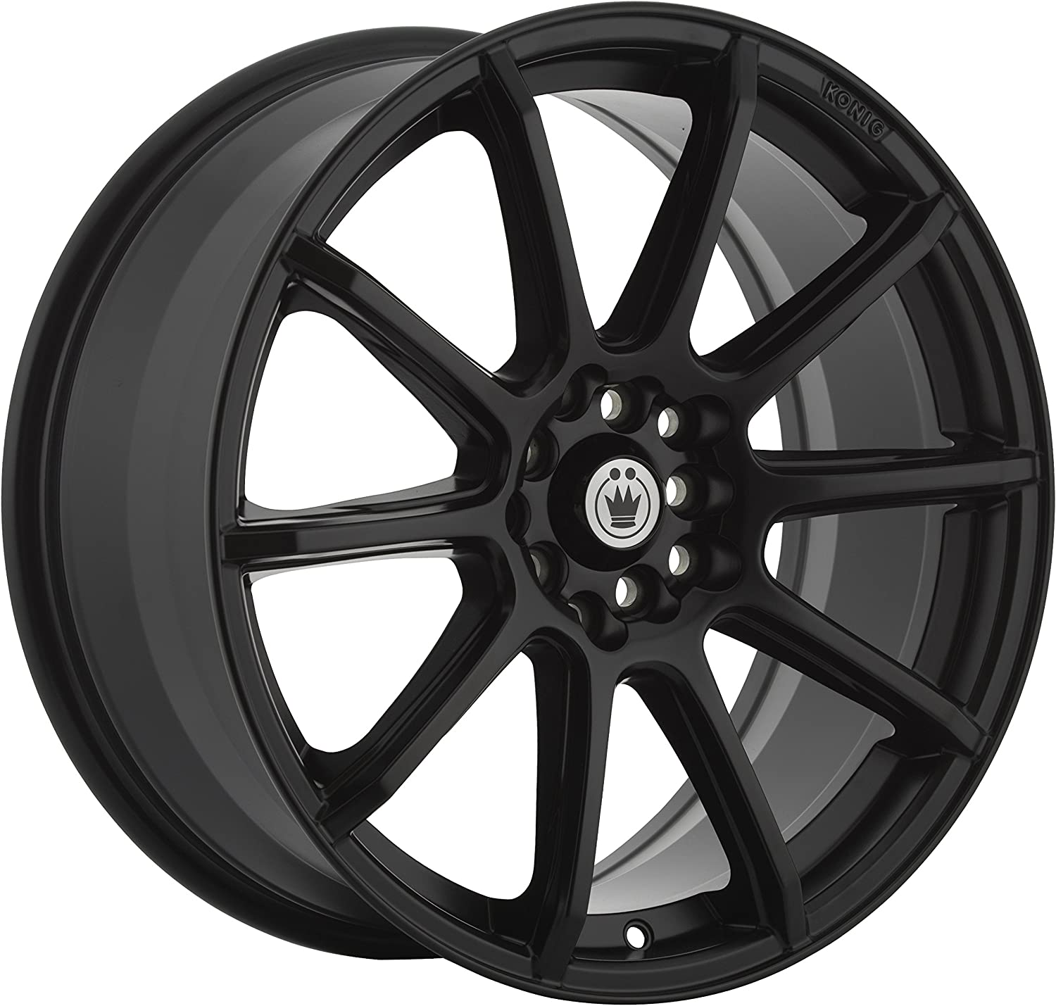 17 x 7. inches //5 x 105 mm, 40 mm Offset Konig CONTROL Matte Black Wheel with Painted Finish