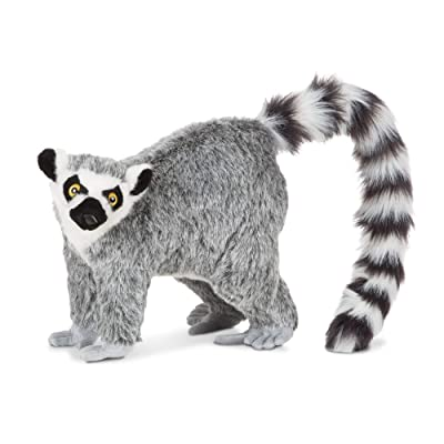 Melissa & Doug Standing Lifelike Plush Lemur Stuffed Animal (15.5 x 14.5 x 9 inches): Toys & Games