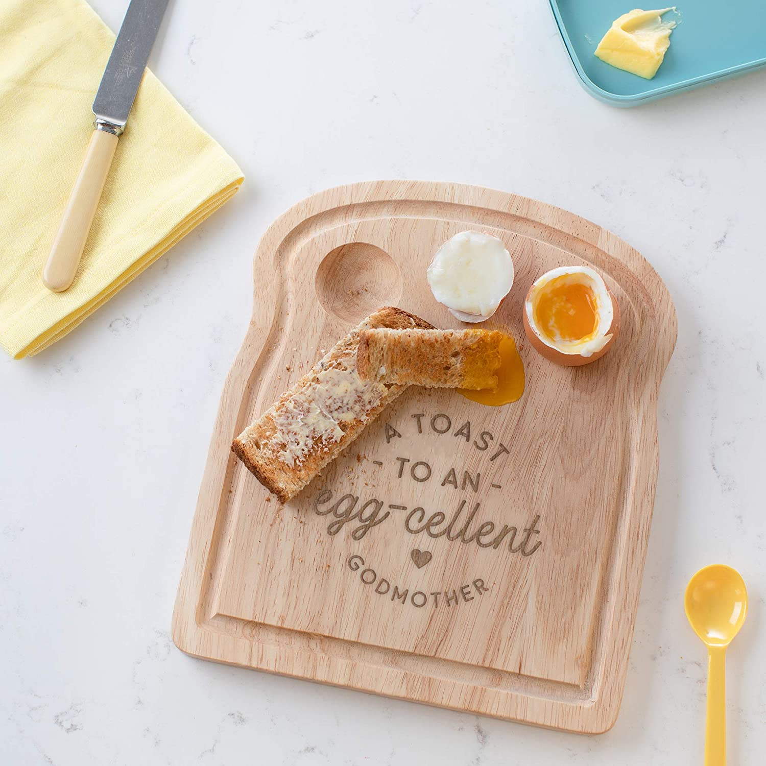 Funny Engraved Pun Design A Toast to an Egg-cellent Aunt Breakfast Egg Board Thank You Present Idea Birthday Gifts for Aunt