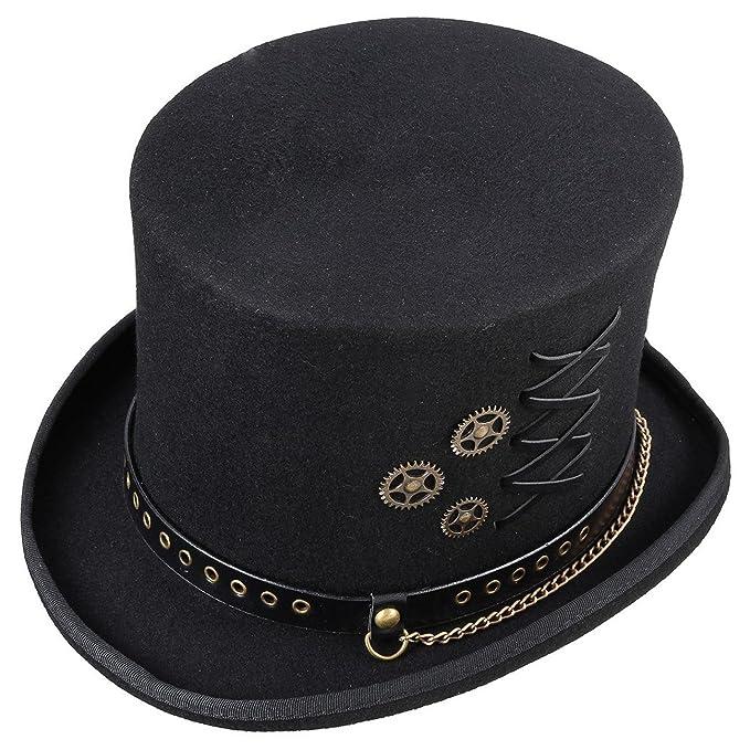 08587b704067 Conner Hats Men's Steampunk Top Hat