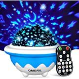 OMERIL Kids Star Night Light , 3 Changeable Pattern Films Starry Sky Night Light Projector for Baby, Remote Control Kids…