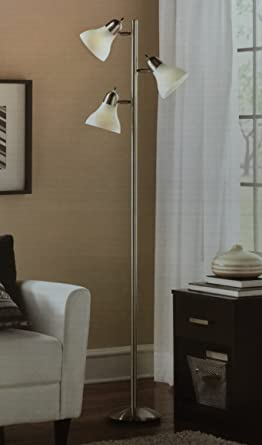 Mainstays 54 track tree floor lamp brushed steel amazon mainstays 54 track tree floor lamp brushed steel aloadofball Image collections