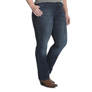 71f5cb5af0e Wrangler Women s Size Plus Mid Rise Straight Jean at Amazon Women s ...