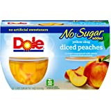 Dole Fruit Bowls, Diced Peaches in Water, 4 Cups (Pack of 6)