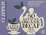 Clipper Organic Decaffeinated Tea 80s (Pack of 1, Total 80 Teabags)
