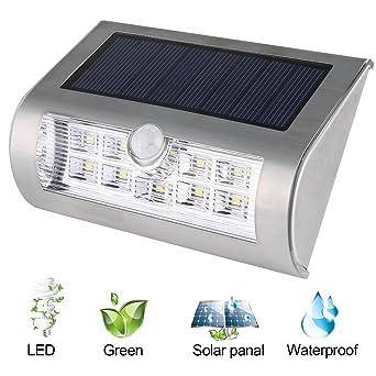 Liqoo Lampe Solaire Luminaire Exterieur Lampe de Mur Applique avec