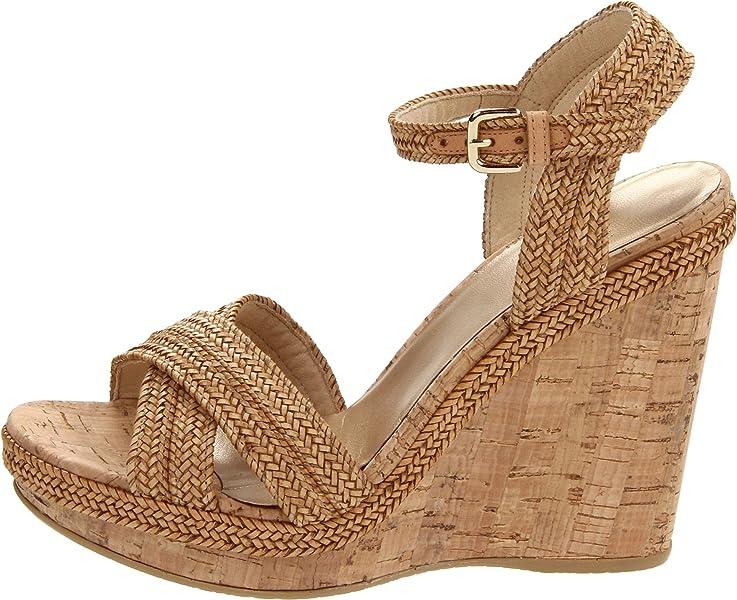 12e432ce5b62 Women s Minx Wedge Sandal. Stuart Weitzman Women s Minx Camel Laniard 9 M  US. Back. Double-tap to zoom
