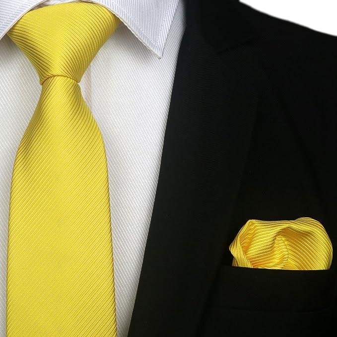 PickaPocket Boite à cravate Homme Jaune BRIGHT YELLOW STRIPE STITCH REPEAT SUNSHINE PATTERN Taille Unique